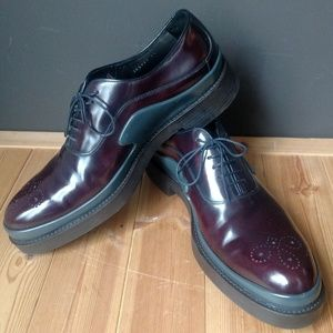Men's PRADA Runway New Cordovan Leather/Rubber